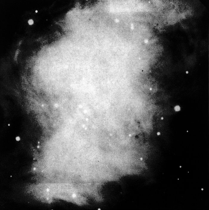 The central area of the Crab Nebula