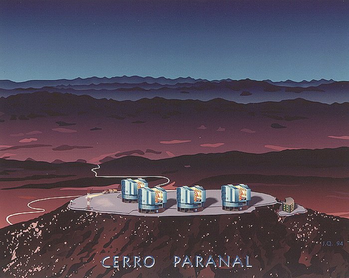 Artist's Impression of the VLT Observatory at Paranal