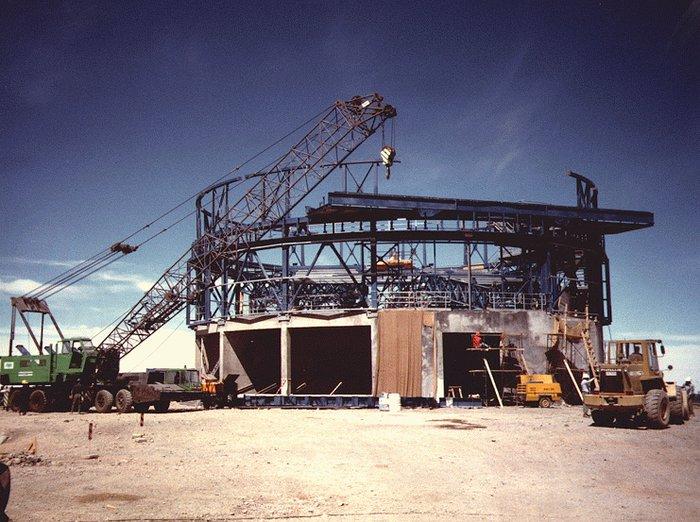 Construction of VLT UT1 Enclosure