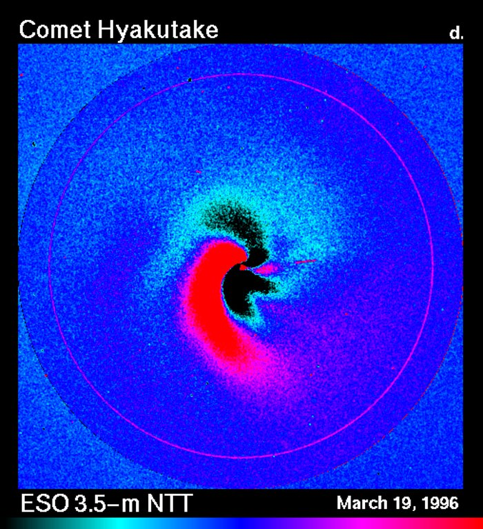 Dust jets in comet Hyakutake