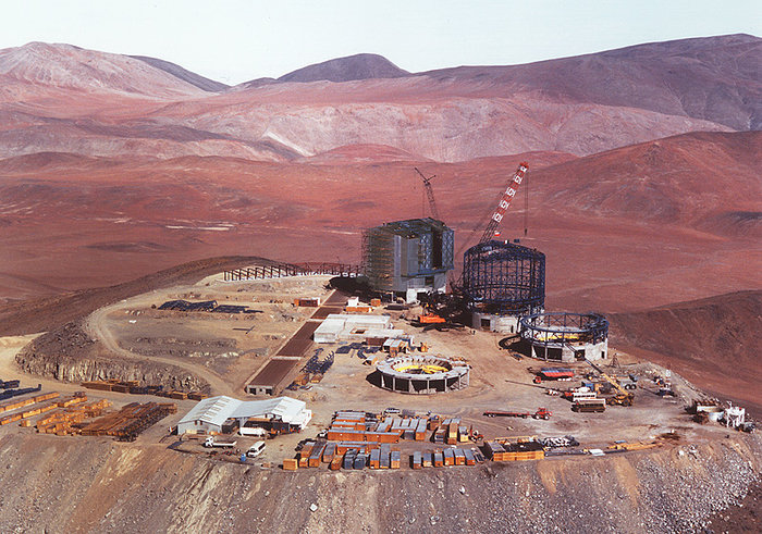 A bird's view of Paranal