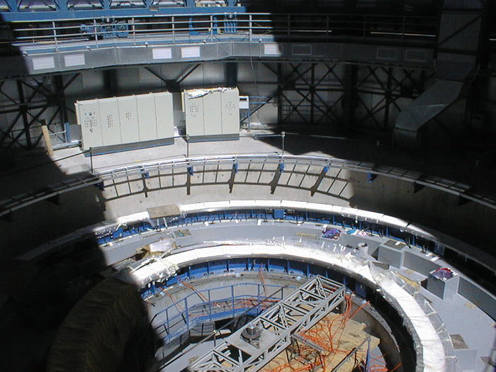 Construction work on the VLT UT4