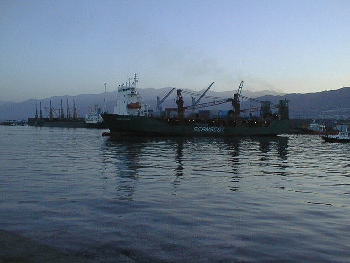 Arriving in Antofagasta harbour