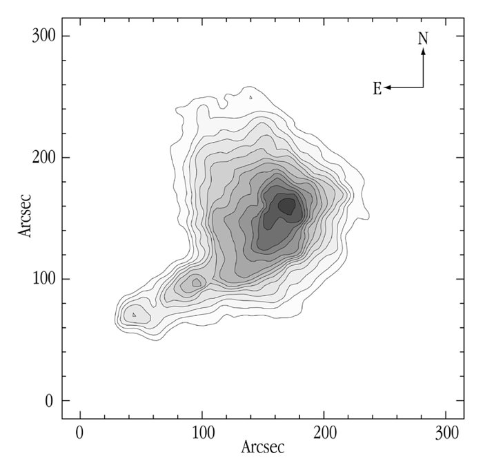 Map of the obscuration in the dark cloud B68