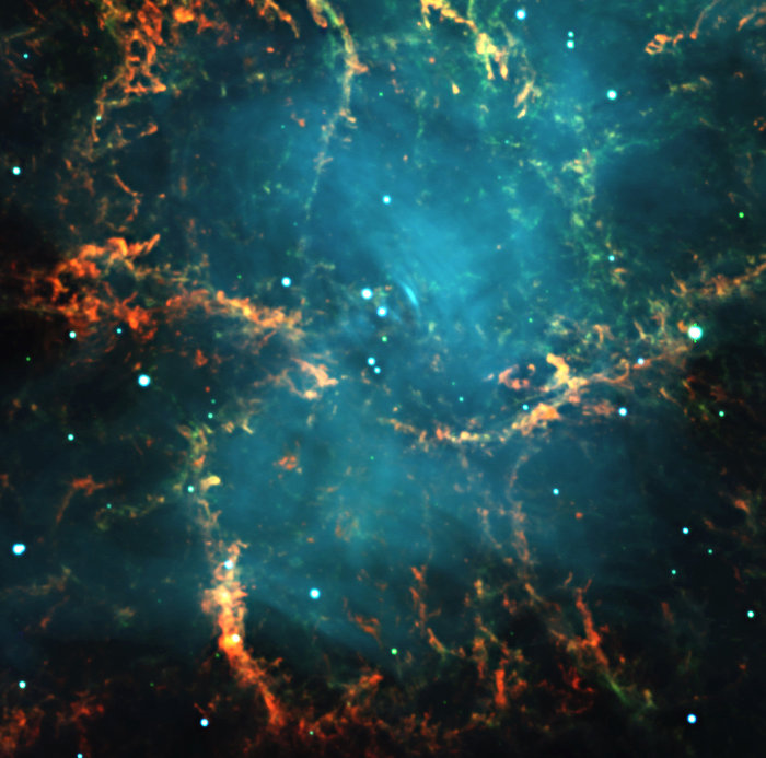 Centre of the Crab Nebula in Taurus