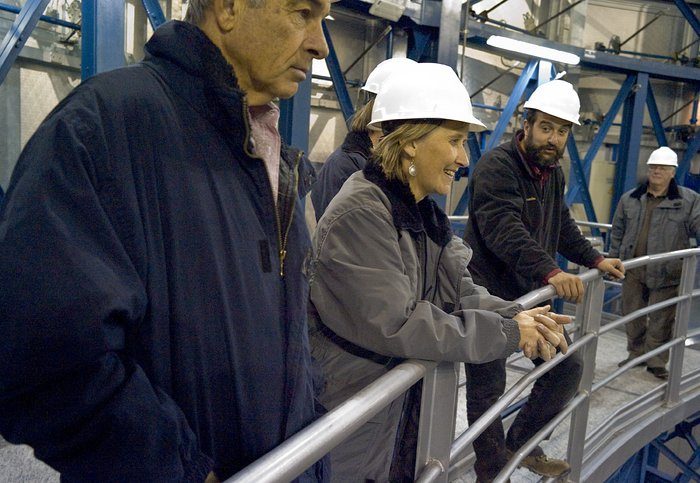 Minister Marie-Dominique Simonet at Paranal