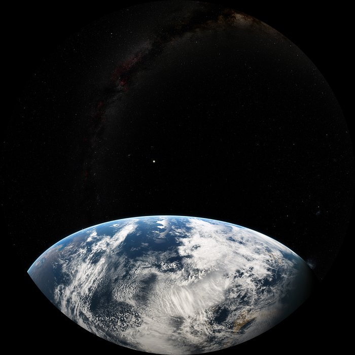 Image still from the planetarium show