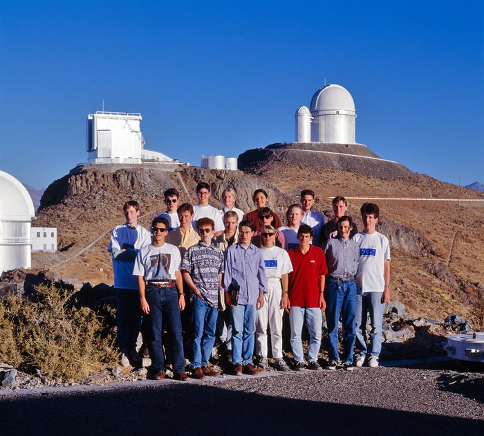 Young astronomers at La Silla