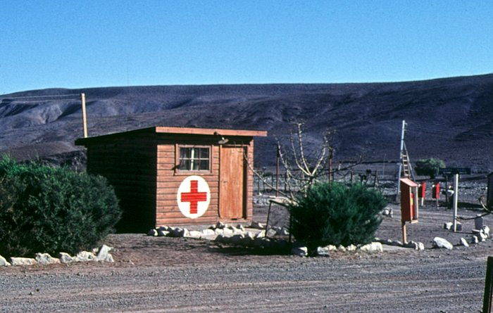 The first aid hut of Camp Pelicano