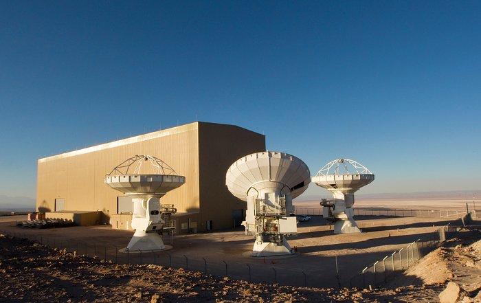 ALMA antennas at OSF