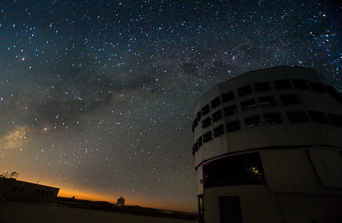 VLT at Night at Paranal