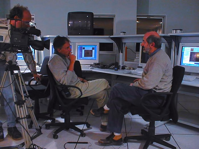 Interview during VLT first light