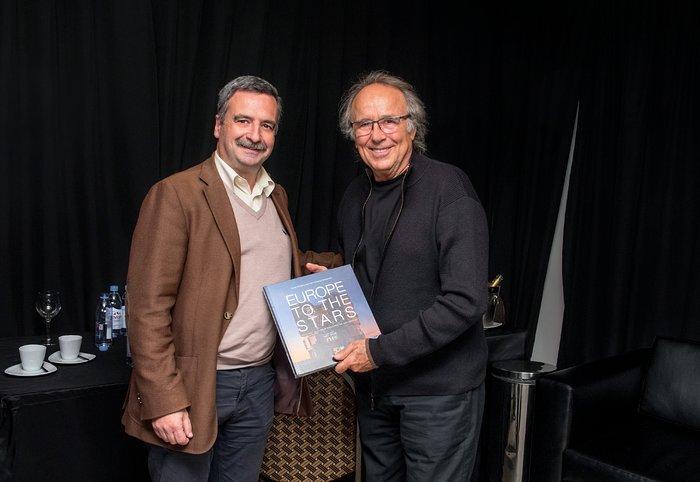 Joan Manuel Serrat and Fernando Comerón