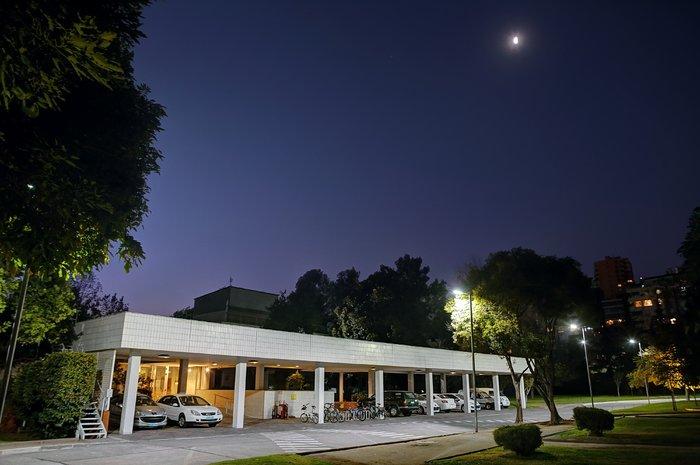 ESO Vitacura office entrance at night
