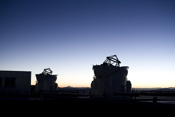 Auxillary Telescopes at sunrise