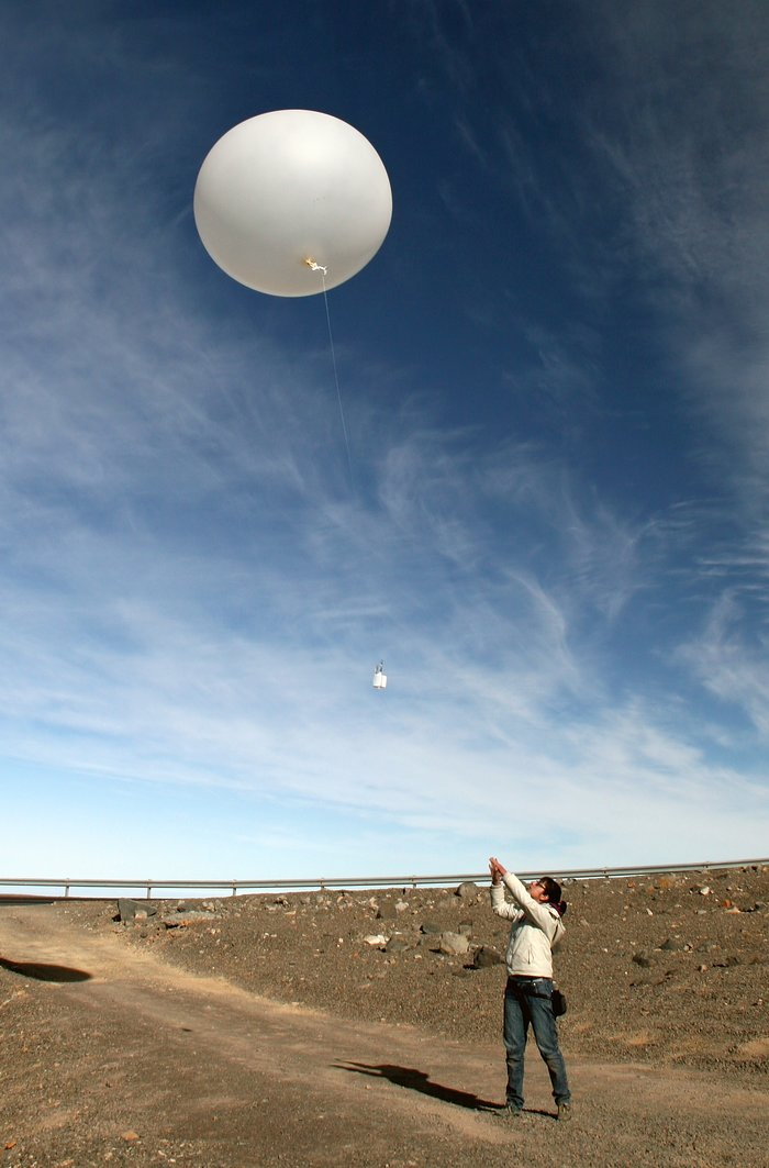 Weather balloons on Paranal in support of the ELT