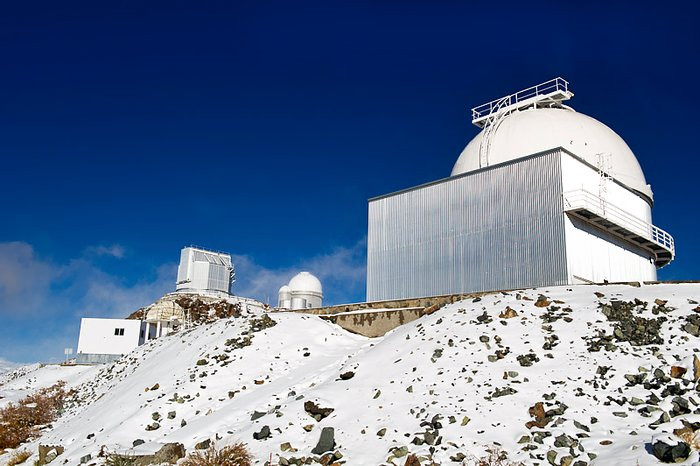 Three telescopes at La Silla