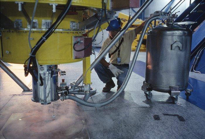 Liquid nitrogen cooling