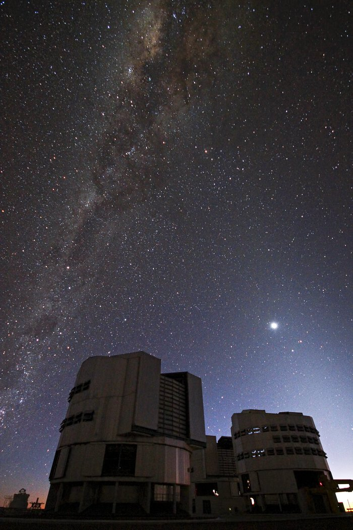 Night Begins at Paranal Observatory