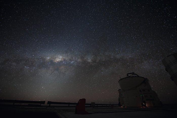 Stargazing over Paranal
