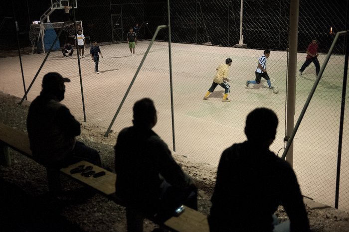 Football matches at 2,900 metres