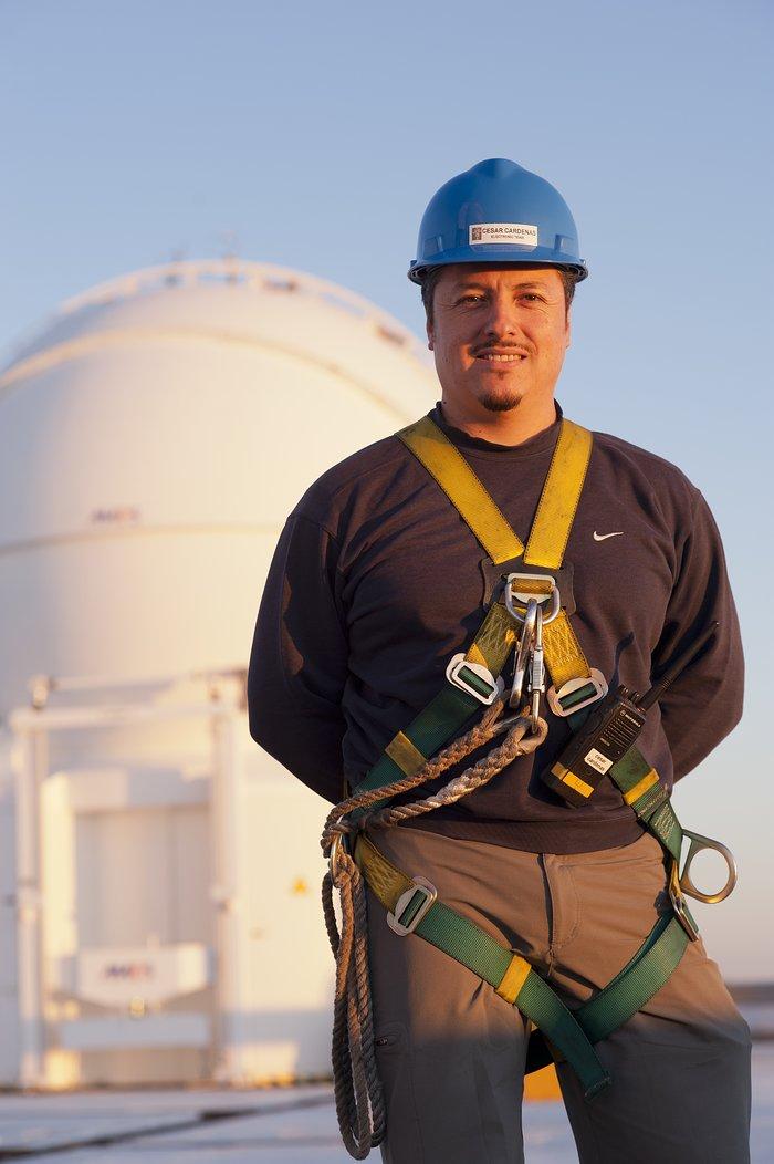 Cesar Cardenas, electronic technician