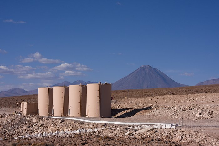 View of Licancabur volcano from the ALMA Operations Support Facility