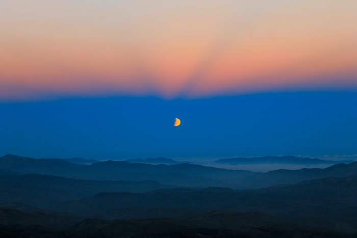 Moon eclipse seen from La Silla