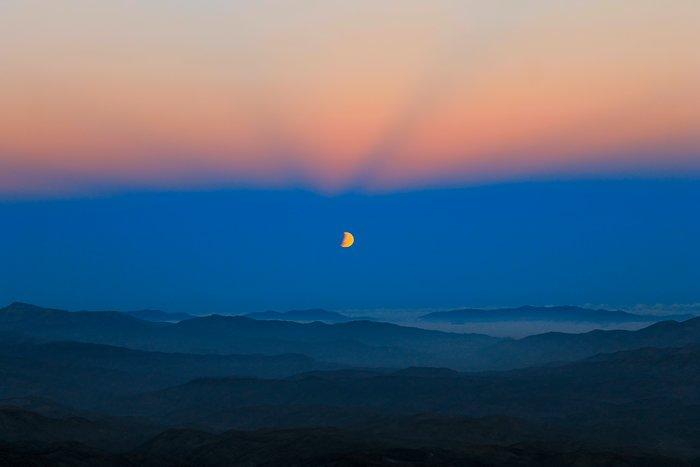 Moon eclipse seen from La Silla