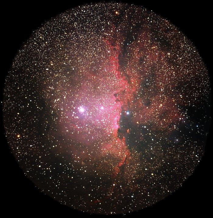 NGC 6188 Glows Crimson