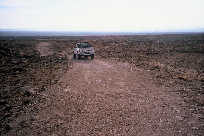 Old mountain track towards ALMA