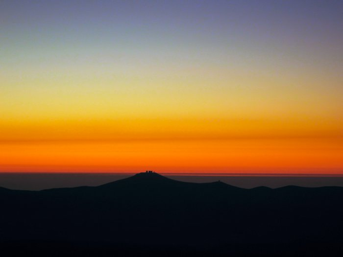 Paranal Submerges into Sunset