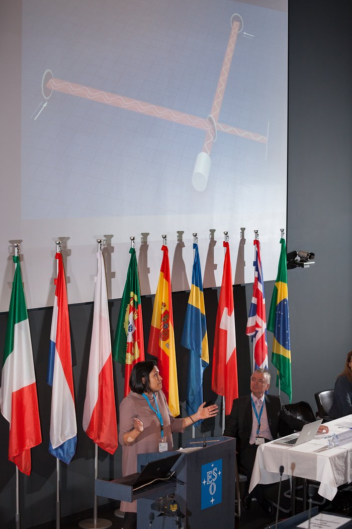 Samaya Nissanke at ESO neutron star merger press conference