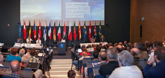 Q&A at the ESO press conference announcing the first discovery of a neutron star merger