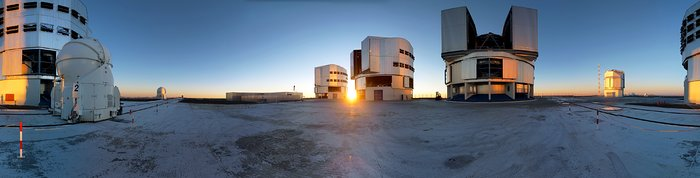 New Year's Eve at the Very Large Telescope