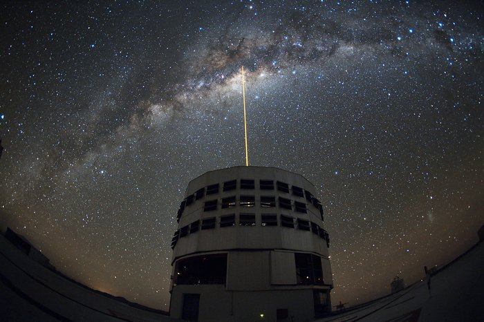 Shooting a Laser at the Galactic Centre