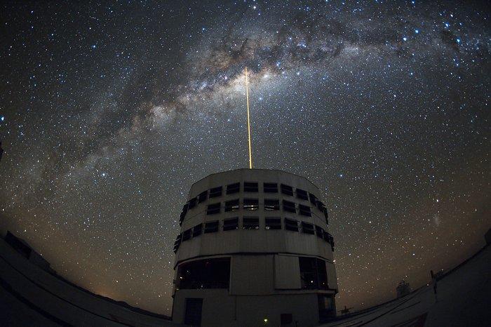 Disparando un láser hacia el centro galáctico