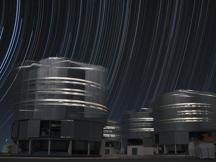 Stars Dancing Above the VLT