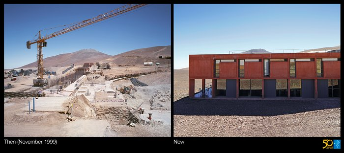 Building the Paranal Residencia — From turbulence to tranquility (side-by-side composite)