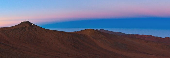 Paranal and the shadow of the Earth