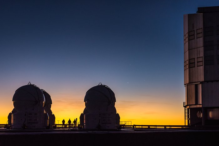 Three people, three telescopes and three planets