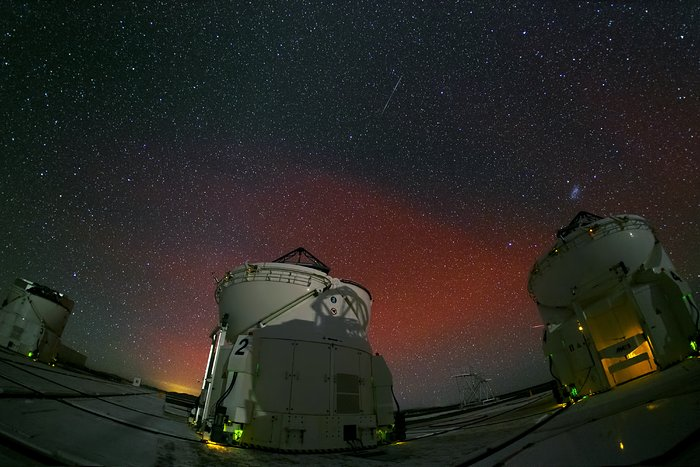 Flammende himmel over Paranal
