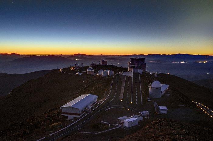Alineación de planetas sobre La Silla