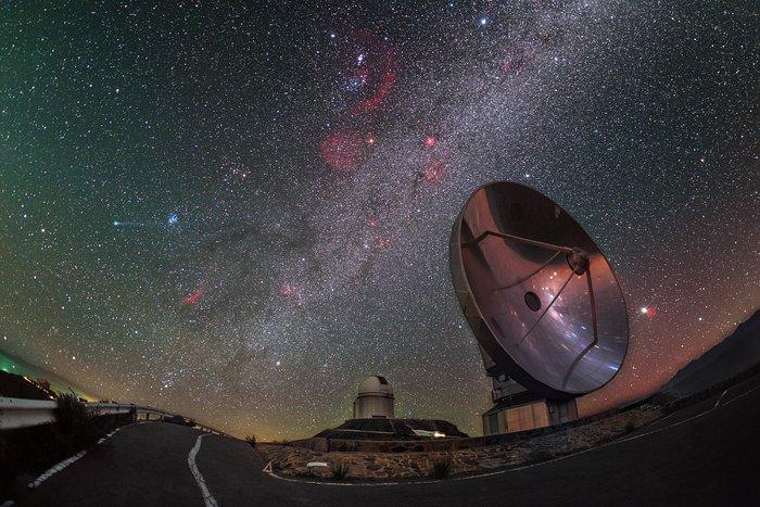 O cometa Lovejoy visita La Silla