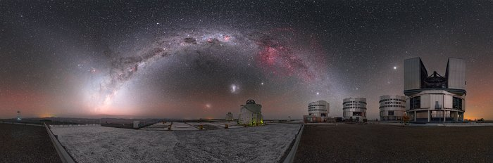 Cosmic fireworks over Paranal