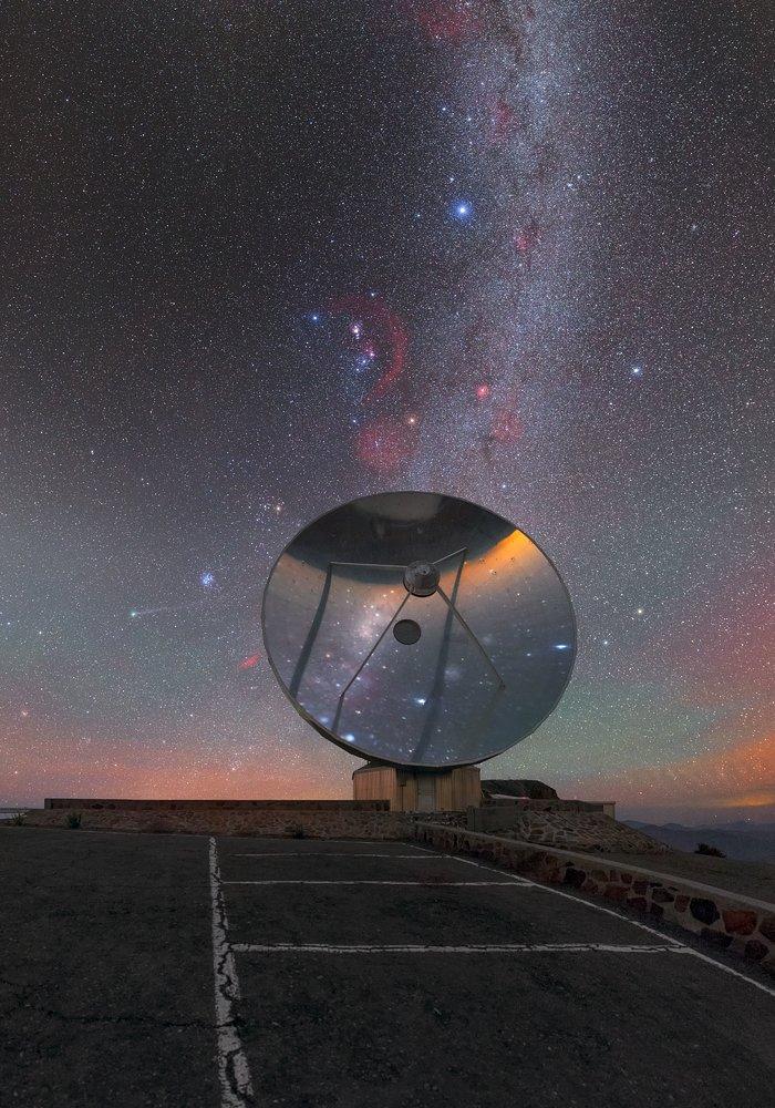 Un pequeño telescopio solitario