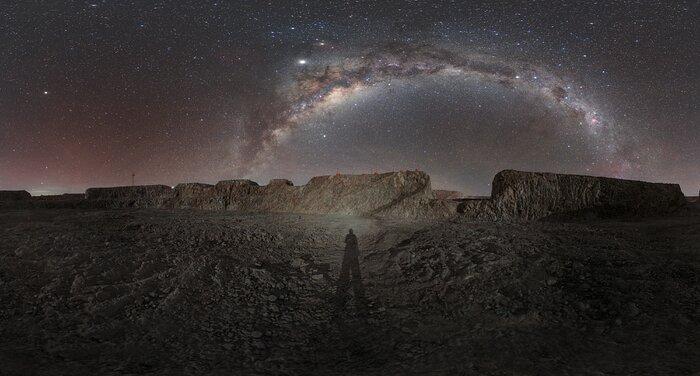 La Via Lattea sopra il sito dell'ELT