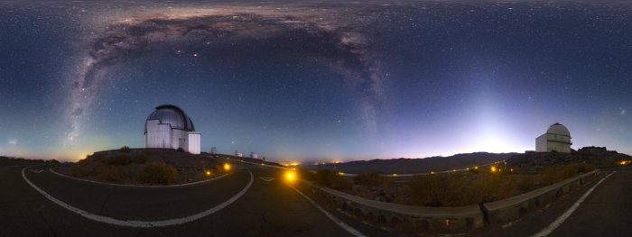 A spectacle over La Silla