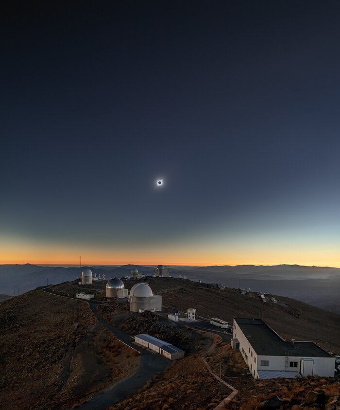 Memory of the Solar Eclipse Above La Silla