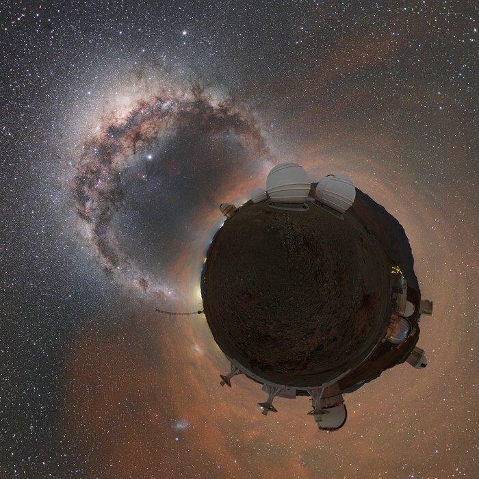 La planète La Silla et la Voie lactée